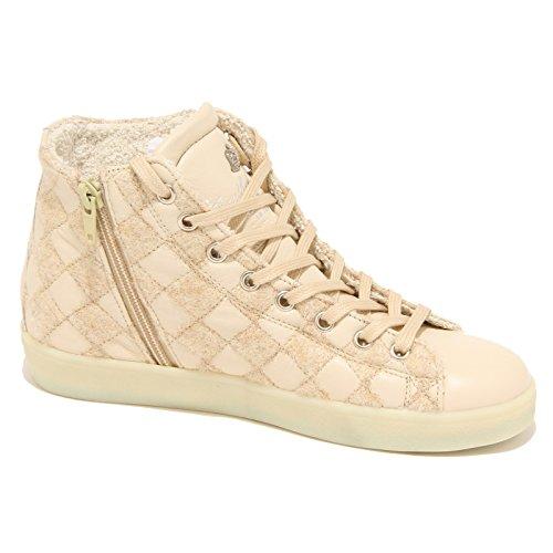 7724N sneaker LEATHER CROWN beige scarpe donna shoes women Beige chiaro