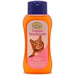 BPS R Champú Desodorante Shampoo para Gato Animales Domésticos Seguro y Natural Diseño para Eliminar Olor 250 ml BPS-4110