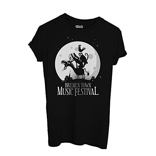 T-Shirt MUSICANTI DI BREMA FESTIVAL -FAVOLA - FAMOSI by Mush Dress Your Style Nera