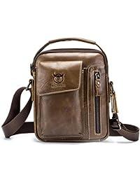 Leap de G Bandolera Hombre, Super Modern piel Messenger Bag bolso, bolsa de hombro de alta calidad para trabajo, Uni,…