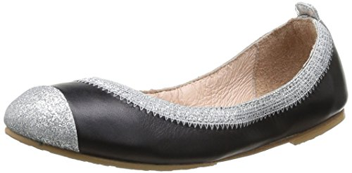 Bloch Crystelle, Ballerines fille Noir (Black/Silver)