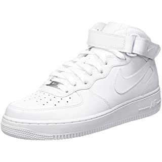 Nike Air Force 1 Mid '07, Herren Hightop Sneaker, weiß, 44.5 EU