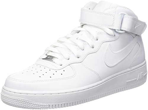 Nike Air Force 1 Mid '07 Zapatillas para Hombre, Blanco, Talla EU 43 ( 8.5 UK)