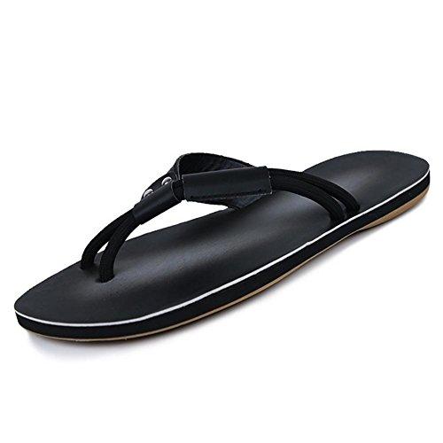 SHANGXIAN Marche de pantoufles & nu-pieds confort chaussures Casual talon noir mat jaune hommes black drag