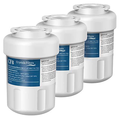 crystala GE MWF Kompatibel mit Ge MWF, mwfa, mwfp, GWF, gwfa, Kenmore 9991,46-9991, 469991Kühlschrank Wasser Filter 2 Packung