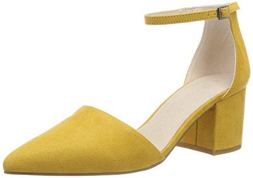 Zapatos de tacón amarillos con Punta Cerrada para Mujer