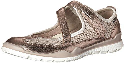 Ecco Women's Lynx Mary Jane Fashion Sneaker, Warm Grey Metallic/Gravel, 37 EU/6-6.5 M US
