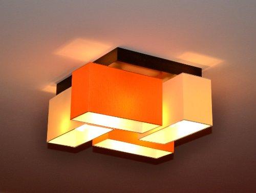 Plafonnier Milano B4D 4 ampoules avec différentes variantes Moderne Crème-orange