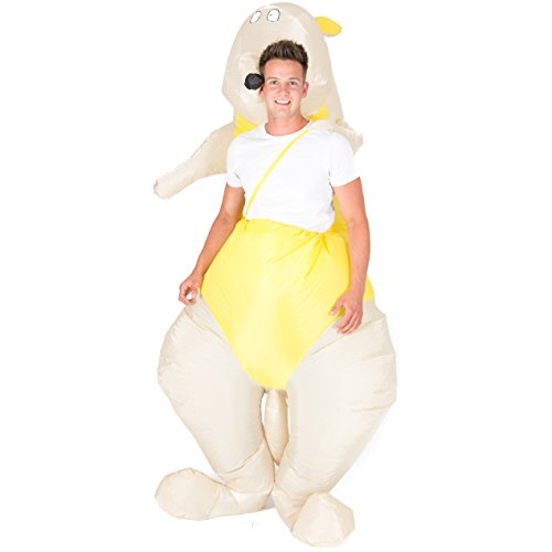 Costume gonfiabile da canguro wallaby, per adulti