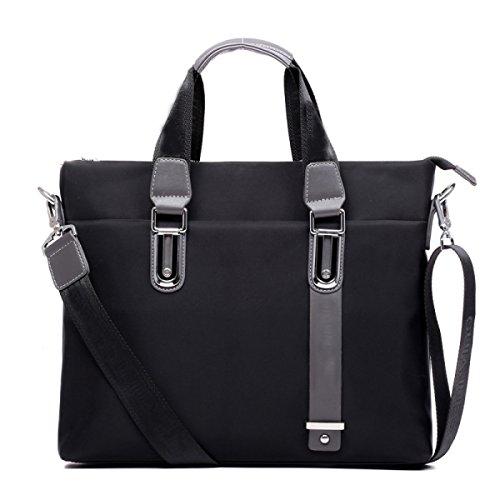 Männer Geschäfts-Beutel-Schulter-Beutel-Kurier-Beutel Oxford-Mann-Männer Handtaschen-horizontale Computer-Beutel-beiläufige Beutel Black