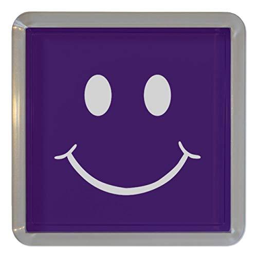 Purple Smiley - Durchsichtigen Kunststoff Teeküstenmotorschiff/Bierdeckel
