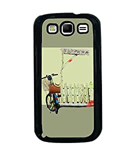 Fuson Premium Welcome Metal Printed with Hard Plastic Back Case Cover for Samsung Galaxy S3 i9300