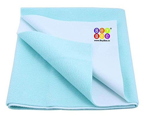 Bey Bee Quick Dry Baby Bed Protector Waterproof Sheet Reusable Absorbent Mat Underpads Crib Sheet Cot Mat Bassinet (Sea Blue) {Small} {70Cm X 50Cm}