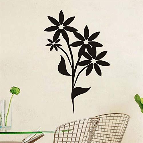 58x90 cm Einfache Blumen Wandaufkleber Für Kinderzimmer Dekoration Selbstklebende PVC Wasserdichte Abziehbilder Tapete Poster Wandkunst Wohnkultur