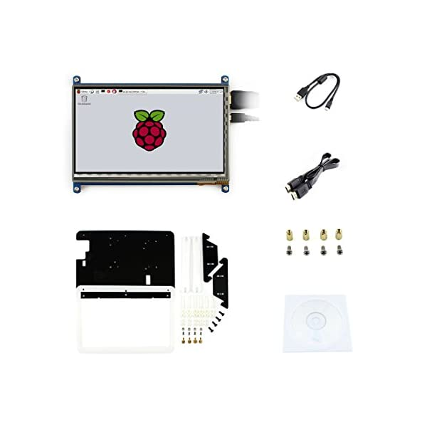 Waveshare 7 inch C LCD Rev2 1 Touch Screen Win10 1024*600 with Bicolor case  HDMI interface Capacitive Display For Raspberry Pi3/2 B/B+/A