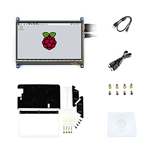 7 pouces C LCD Rev2.1 écran tactile win10 1024*600 with Bicolor case HDMI interface capacitif Display Pour Raspberry pi3/2 B/B+/A