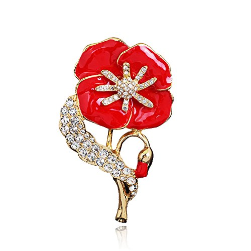 dura-home-red-poppy-flower-lapel-pin-badge-banquet-enamel-remembrance-brooch