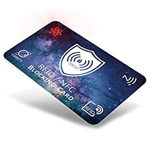Carta di Blocco RFID ORBITY   5ª Generazione + LED   Protezione RFID/NFC Anti Clonazione   Protezione Carte di Credito Contactless, Bancomat, Chiavi Auto ecc. 1 spesavip