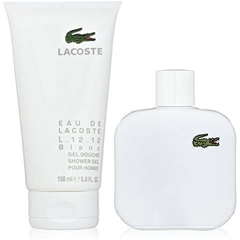 EAU DE LACOSTE L.12.12 BLANC Eau De Toilette 100 ML+ GEL 150 ML SET REGALO OFERTA!