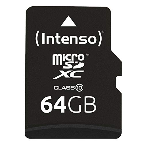 Intenso Micro SDXC 64GB Class 10 Speicherkarte inkl. SD-Adapter (Micro-sd-karte Sd-karte Adapter)