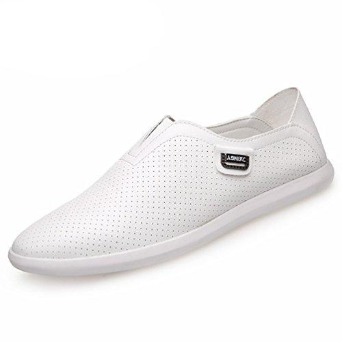 XIGUAFR Sandale Casual Homme Printemps Été Chaussure de Conduite en Cuir Doux de Trou Souple
