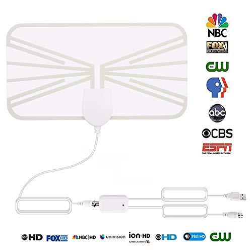 Atsc Hd Antenne (SEXTT Tv Antenne Mini HDTV Digital TV Antenne US Indoor HD ATSC Antenne mit Signalverstärker)
