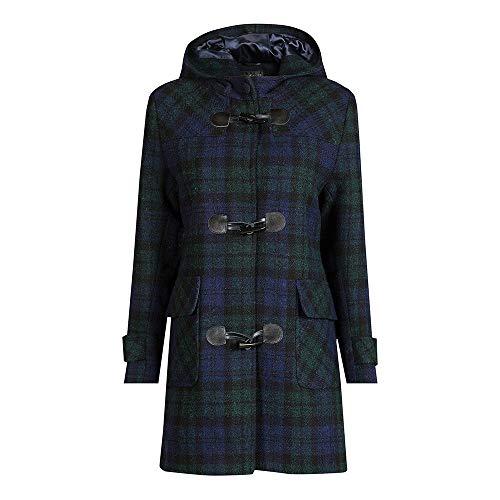 The Scotland Kilt Company Neu Luxuriös, Wolle Damen Harris Tweed Düffelmantel - Schwarze Uhr - Größe Wählen - Schwarze Armbanduhr, Size 12 - Tweed Duffle