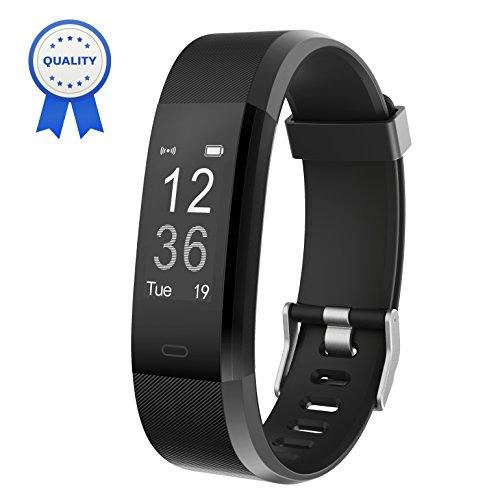 HolyHigh Fitness Armband YG3 Plus HR Pulsuhr Aktivitätstracker mit Herzfrequenz Monitor/wasserdichter/Schrittzähler/Anrufbenachrichtigungen/Ruhemodus/Kamerabedienung für Android und iOS (Schwarz)