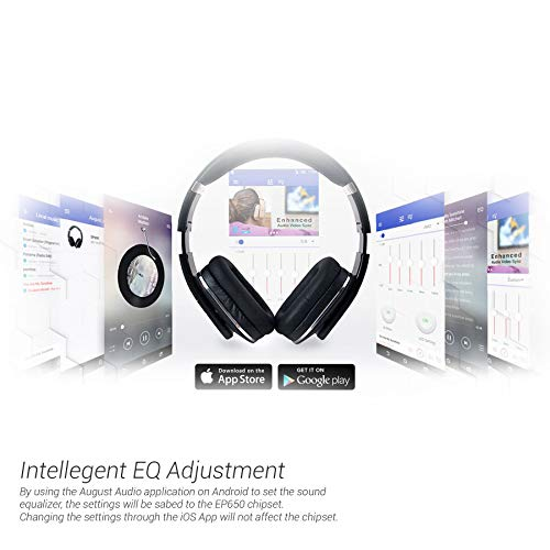 August Over Ear Bluetooth Wireless Headphones - EP650 with