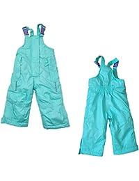 Pantalones de esquí para niña, Impermeables, con Tirantes Ajustables
