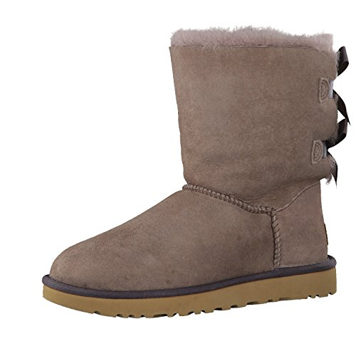 Ugg Ladies Bailey Bow Boots Grigio (grigio)