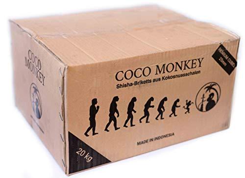 COCO MONKEY Shisha Kohle | 20KG Box | Naturkohle aus Kokosnussschalen -