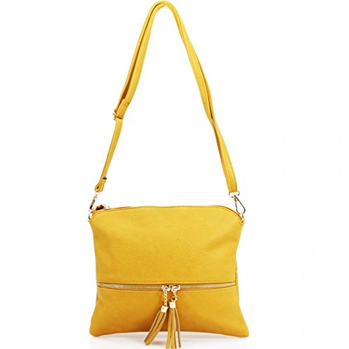 Elegant, Borsa a tracolla donna Medium Yellow