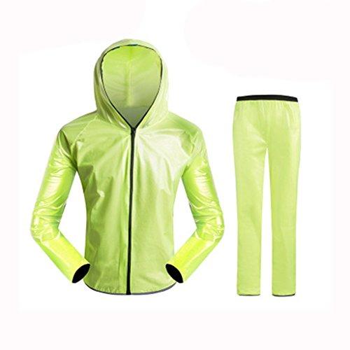GBR Radfahren Regenmantel Sport Bike Riding Anzug Windbreaker Fahrradbekleidung Laufvoll Ärmel Jacke Regen wasserdicht Kleidung (Farbe : C, größe : XXL)