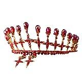 Corona de Boda Beisoug Novia Corona Circón Rhinestone Luminoso Boda de Lujo Joyería Nupcial Tiara Regalos