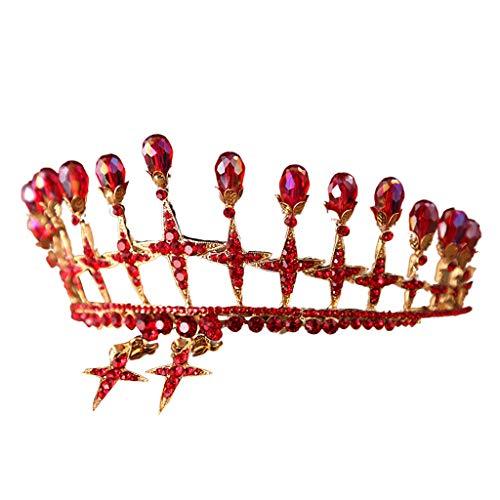Braut Krone Kopfschmuck, Vintage Prinzessin Tiara Prom Party Perle Strass Hairband Zirkon Leuchtende Luxus Hochzeit Brautschmuck Geschenke braut diadem fascinator hochzeit haarspange Schön charmant