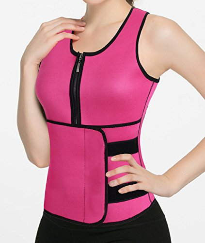Women's Body Shaper Tummy Fat Burner Sweat Tank Top Weight Loss Shapewear Neoprene