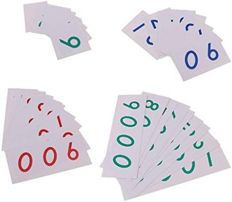 Backbayia Montessori Mathématiques 1-9000 Nombre Cartes  s Jouets Counting Counting Counting Toy Réveils éducatifs Pour Bébé | Produits De Qualité  acaf12