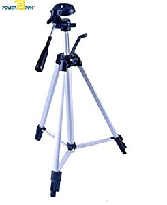 Powerpak Photo-X5 4.5 Feet Flat 53 Inches TriPod With 3-Way Panhead For Digital Dslr, Video Camera, Camrecorder
