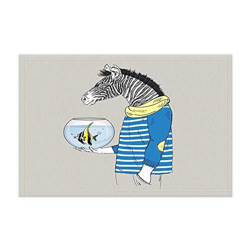 MMPTn Funky Animal Zebra Alfombras baño Divertido