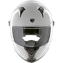 Panthera casco de moto integral Racer blanco brillante talla L