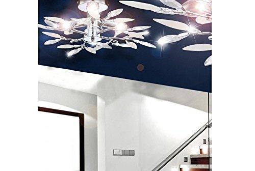 Plafoniere Con Foglie : Plafoniera con foglie decorative per salotto e sala da pranzo