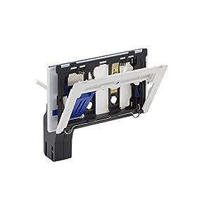 Geberit 115610001 Einwurf / Einwurfschacht für Reinigungswürfel | + Befestigungsrahmen, Schutzplatte, Auffangbecher | passt zu Sigma UP (Unterputz) Spülkästen 12 cm