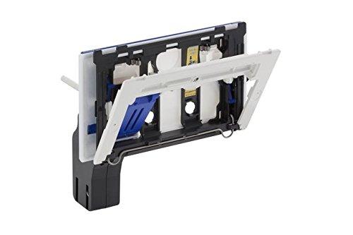Geberit 115610001 Einwurf/Einwurfschacht für Reinigungswürfel | + Befestigungsrahmen, Schutzplatte, Auffangbecher | passt zu Sigma UP (Unterputz) Spülkästen 12 cm