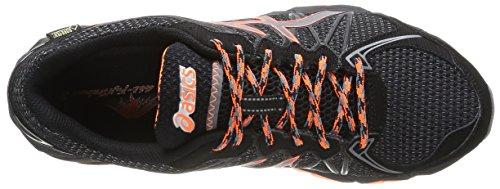 ASICS Gel-Fujitrabuco 3 G-Tx, Herren Outdoor Fitnessschuhe Schwarz (Black/Titanium/Orange)