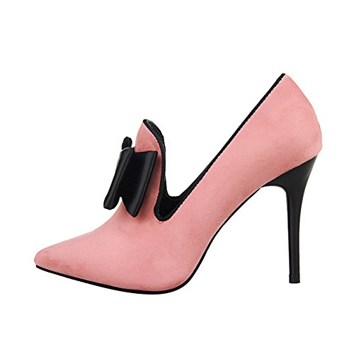 JNTworld Plate-forme Femmes Vintage bowknot pompe Bottes sandales à talons hauts cheville Rose