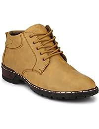 Peddeler Men's Beige Casual Boots Shoes