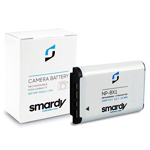 smardy Bateria Accu NP-BX1 para Sony Cyber-shot DSC-H400 HX50 HX60 HX80 HX90 HX300 HX400 DSC-RX1 RX100 DSC-WX300 WX350 WX500 Sony AS15 AS20 AS30V AS100V AS200V AZ1VR X1000V CX240E CX405 HDR-GW66E
