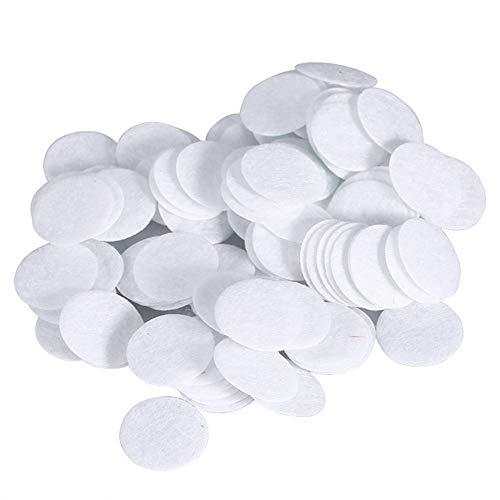 umwollfilter - 4 Größen Gesichtsvakuumfilter, Runde Filterpads Schwammfilter Ersatz (100 Stück) (Größe : 15mm) ()