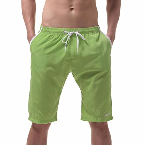 Herren Shorts, mamum Herren Shorts Badehose Quick Dry Beach Surfen Running Schwimmen Poolreef, grün (Boxer Briefs Knit)